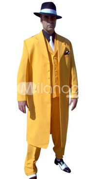 Dick Tracy Halloween Costume for Sale Yellow Suit Cosplay