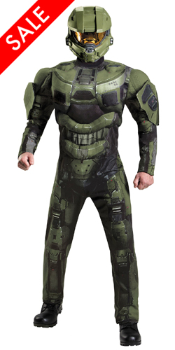 Discount Deluxe Teen Master Chief Halo 3 Jumpsuit Costume Molded Armor