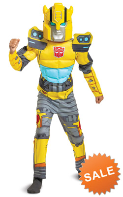 Kids Classic Bumblebee Muscle Costume