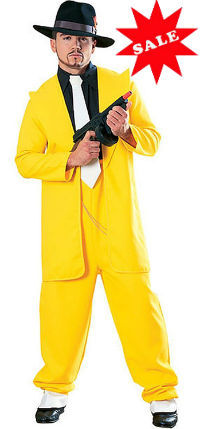 Yellow Zoot Suit Dick Tracey Costume