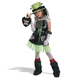 Green Monster Bride Child Halloween Costume