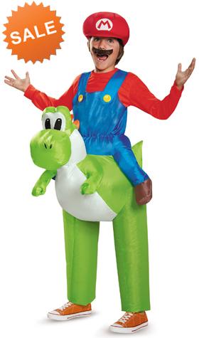 Kids Mario Riding Yoshi Inflatable Costume