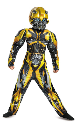 Transformers 5 Boys Bumblebee Muscle Costume