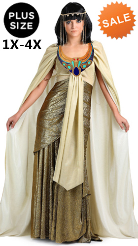 Plus Size Golden Cleopatra Costume 1X 4X