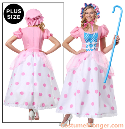 1X 2X Plus Size Bo Peep Dress Costume