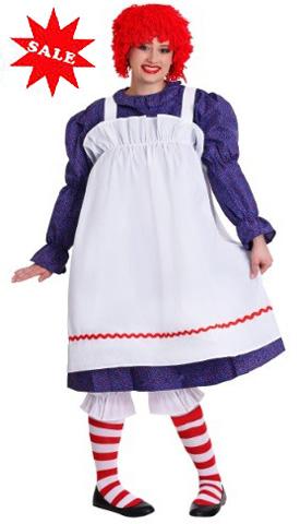 Plus Size Raggedy Ann Rag Doll Costume