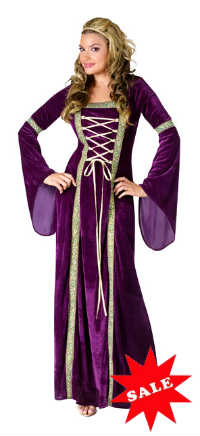 Purple Renaissance Lady Medieval Costume