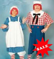 Raggedy Ann Andy Costume Sale