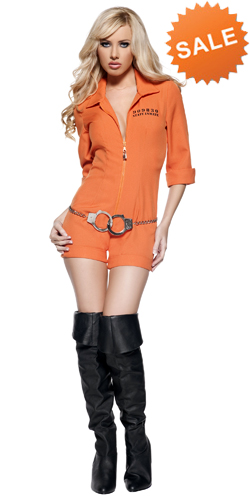 Sexy Orange Prisoner Costume for Women