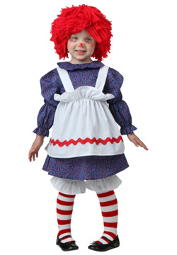 Toddler Raggedy Ann Girl Dress Costume