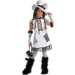 Child White Monster Bride Tween Halloween Costume