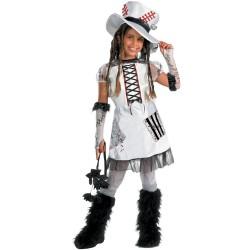Child White Monster Bride Tween Halloween Costume