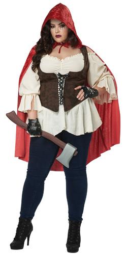 Plus Size Red Riding Hood Dress Costume Full Figure Women