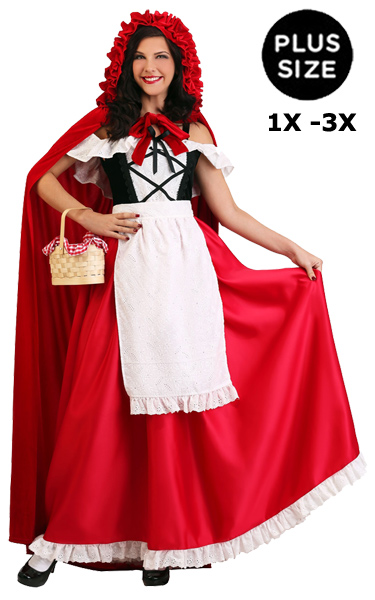 Plus Size Little Red Riding Hood Costume 1X 3X