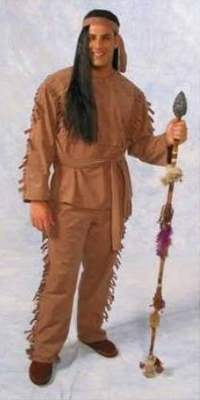Suede Indian Brave Costume
