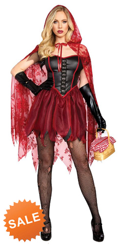 Dangerous but Sexy Red Riding Hood Dress Costume
