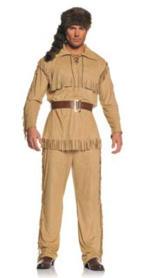 Adult Davy Crockett Costume for Men