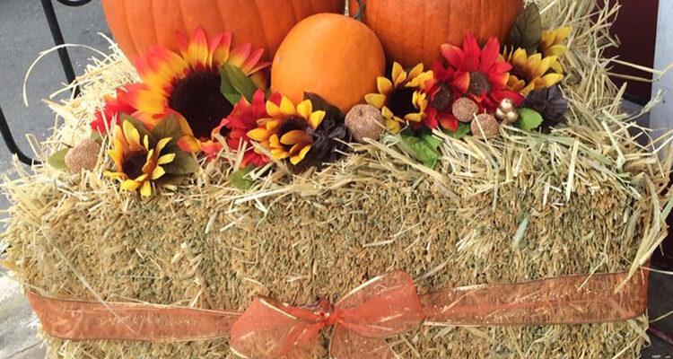 Bale of Hay Halloween Decor