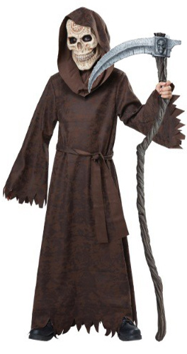 Ancient Child Grim Reaper with Skull Face