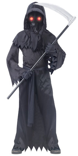Kids Grim Reaper Costume with Glowing Eye Glasses