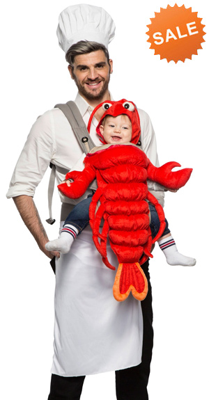 Master Chef with Baby Lobster Costume