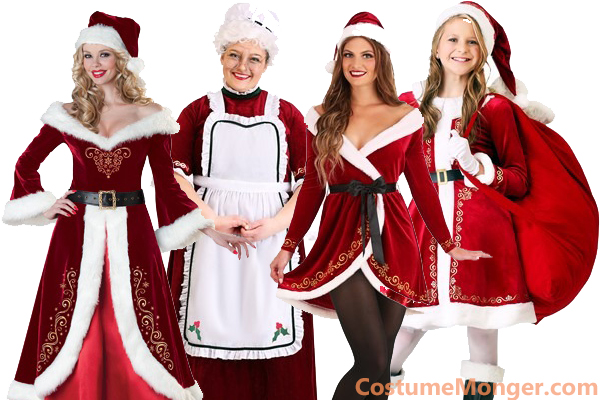 Mrs Santa Claus Costumes for Christmas