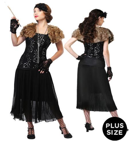 Plus Size Charleston Flapper Dress