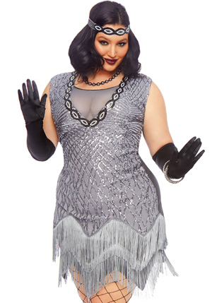 Plus Size Roaring Roxy Flapper Costume