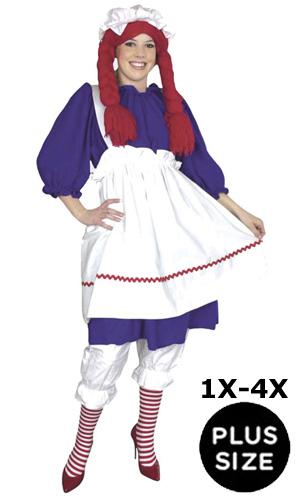 Plus Size Raggedy Ann Costume Full Figured Women