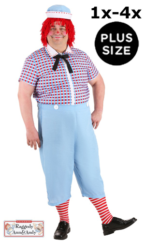 Plus Size Raggedy Andy Costume 1X-4X for Men