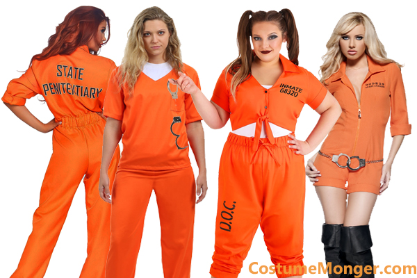 Women's Orange Prisoner Costumes for Halloween
